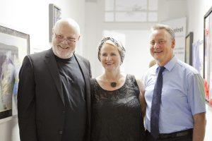 Fürths Oberbürgermeister Dr. Thomas Jung zu Gast auf der Vernissage von Petra Annemarie Schleifenheimer.