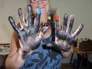 Druckgraphik, Alternative, Druckerfarbe, Handprint