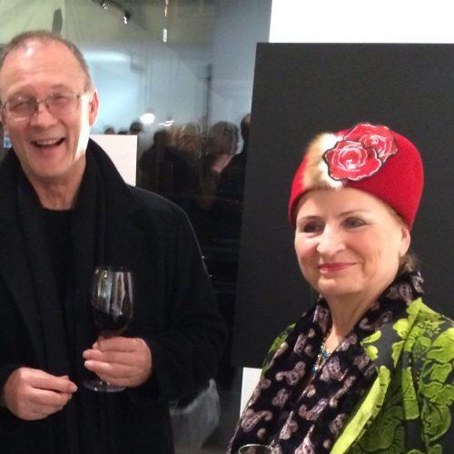 Petra Annemarie Schleifenheimer und Prof. Ottmar Hörl, Präsident der Akademie der Bildenden Künste Nürnberg